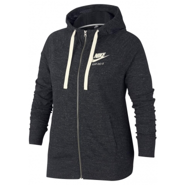Nike Sportswear Kapuzensweatjacke »W NSW GYM VNTG HOODIE FZ EXT2«, anthrazit, Gr.XL-XXXL
