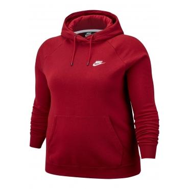 Nike Sportswear Kapuzensweatshirt »WOMEN ESSENTIAL HOODY FLEECE PLUS SIZE«, dunkelrot, Gr.XL-XXXL