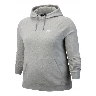 Nike Sportswear Kapuzensweatshirt »WOMEN ESSENTIAL HOODY FLEECE PLUS SIZE«, grau meliert, Gr.XL-XXXL