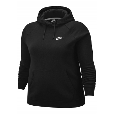 Nike Sportswear Kapuzensweatshirt »WOMEN ESSENTIAL HOODY FLEECE PLUS SIZE«, schwarz, Gr.XL-XXXL