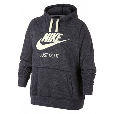 Nike Sportswear Kapuzensweatshirt »WOMEN NIKE SPORTSWEAR GYM VINTAGE HOODIE HBR PLUS SIZE«, anthrazit meliert, Gr.XL-XXXL
