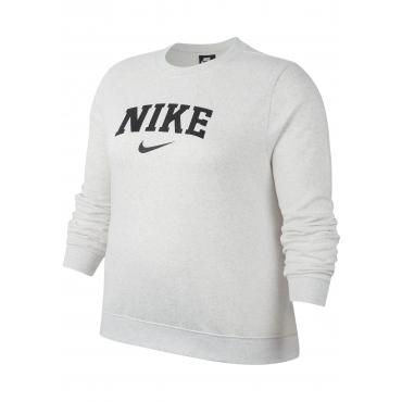 Nike Sportswear Sweatshirt »WOMEN CREW FLEECE BRUSHED VARSITY PLUS SIZE«, weiß, Gr.XL-XXXL