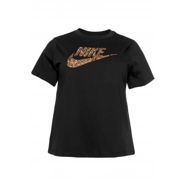 Nike Sportswear T-Shirt »WOMEN NIKE SPORTSWEAR TOP SHORTSLEEVE PLUS SIZE«, schwarz, Gr.XL-XXXL