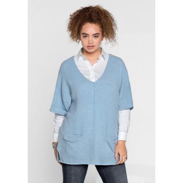 Pullover im Kimono-Stil, pastellblau, Gr.40/42-56/58