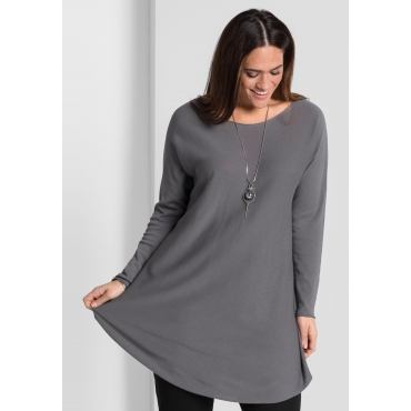 Pullover in Oversize-Form, rauchgrau, Gr.44/46-56/58