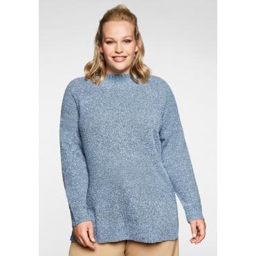 Pullover mit Stehkragen, in Bouclé-Qualität, hellblau, Gr.40/42-56/58