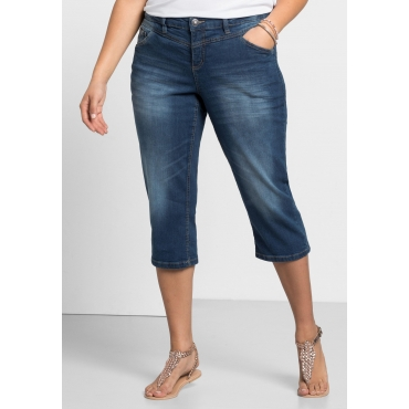 Schmale Capri-Stretch-Jeans, blue Denim, Gr.40-58
