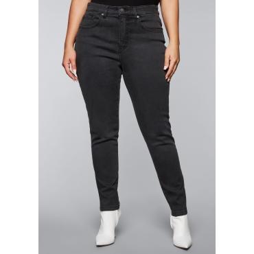 Schmale Jeans mit Push-up-Effekt, black Denim, Gr.44-58