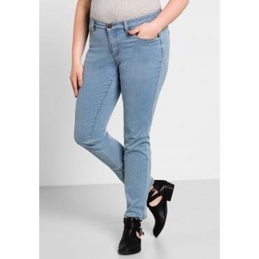 Schmale Stretch-Jeans im 5-Pocket-Stil, light blue Denim, Gr.40-58