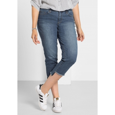 Schmale Stretch-Jeans in 7/8-Länge, blue Denim, Gr.40-58