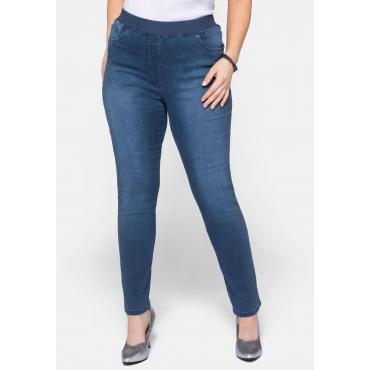 Schmale Stretch-Jeans in Schlupfform, blue Denim, Gr.22-54