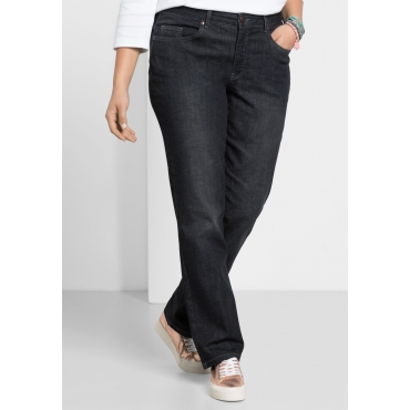Schmale Stretch-Jeans KIRA, black Denim, Gr.40-116