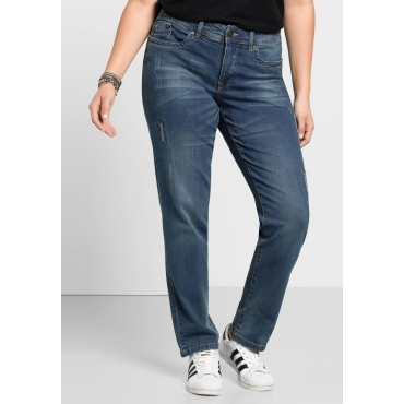Schmale Stretch-Jeans KIRA, blue Denim, Gr.21-104