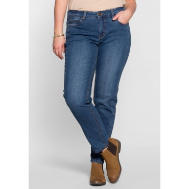 Schmale Stretch-Jeans KIRA, blue Denim, Gr.40-58