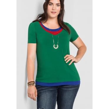 Shirt im Lagen-Look, blattgrün, Gr.40/42-56/58