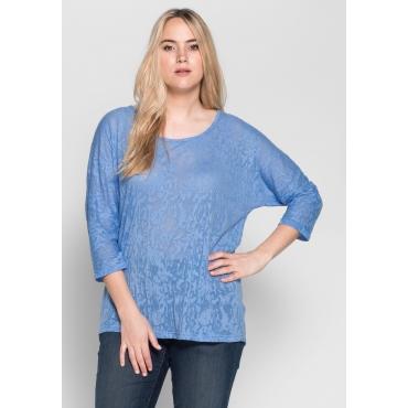 Shirt in Ausbrenner-Qualität, bleu, Gr.40/42-56/58