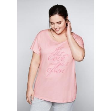 Shirt mit überschnittenem Ärmel, cremerosé, Gr.44/46-56/58