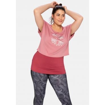 Shirt und Top im Set, aus Funktionsmaterial, rosa+rosenholz, Gr.40-58