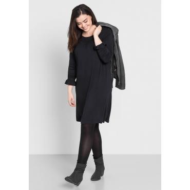 Shirtkleid mit Spitze, schwarz, Gr.44-58