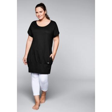 Shirtkleid mit Taschen, schwarz, Gr.40-58
