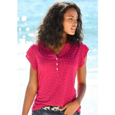 Shirttop, pink+blau, Gr.40/42-48/50