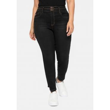 Skinny High-Waist-Jeans mit Bodyforming-Effekt, black Denim, Gr.40-58