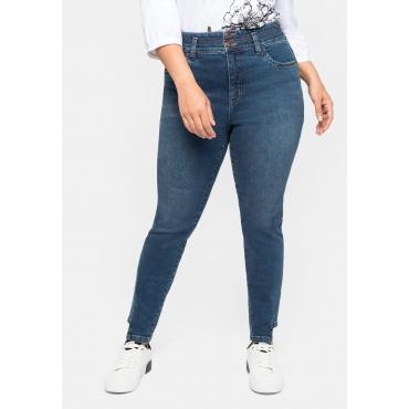 Skinny High-Waist-Jeans mit Bodyforming-Effekt, dark blue Denim, Gr.40-58