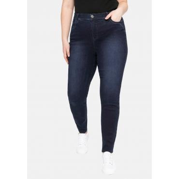 Skinny Jeans mit Gummibund und Push-up-Effekt, blue black Denim, Gr.40-58
