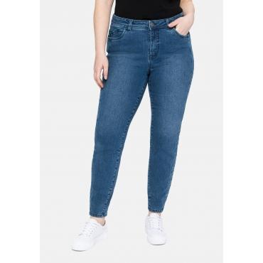 Skinny Jeans mit vorverlegter Teilungsnaht, blue Denim, Gr.40-58