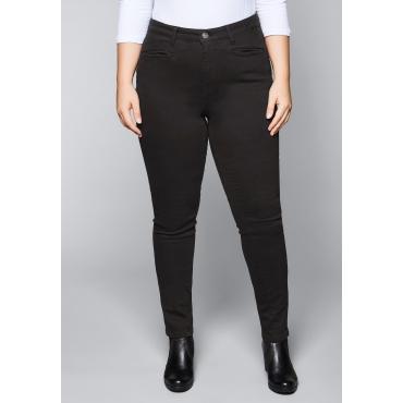 Skinny Power-Stretch-Hose mit vorverlegter Seitennaht, schwarz, Gr.44-58
