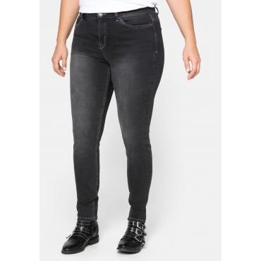 Skinny Power-Stretch-Jeans in 5-Pocket-Form, black Denim, Gr.20-116