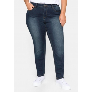 Skinny Power-Stretch-Jeans in 5-Pocket-Form, dark blue Denim, Gr.21-116