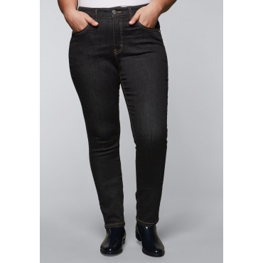 Skinny Stretch-Jeans in ultraflexibler Qualität, black Denim, Gr.44-58