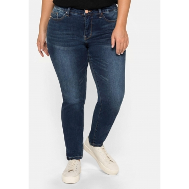 Skinny Stretch-Jeans mit Bodyforming-Effekt, dark blue Denim, Gr.22-104