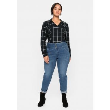 Slim Jeans ANNE mit High-Waist-Bund, blue Denim, Gr.40-58