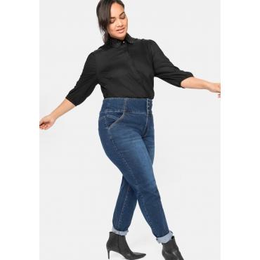 Slim Jeans ANNE mit High-Waist-Bund, dark blue Denim, Gr.40-58