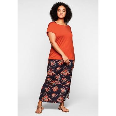Strandkleid und Strandshirt im Set, elastische Qualität, orange, Gr.44-58