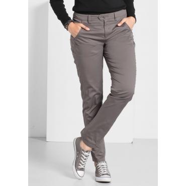 Stretch-Hose mit Ziernaht und Eingrifftaschen, dunkelgrau, Gr.40-58