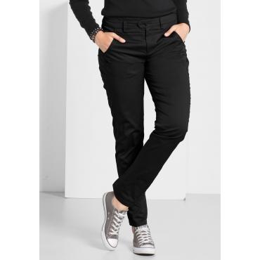 Stretch-Hose mit Ziernaht und Eingrifftaschen, schwarz, Gr.44-58