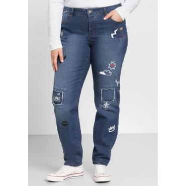 Stretch-Jeans im Boyfriend-Look, dark blue Denim, Gr.44-58
