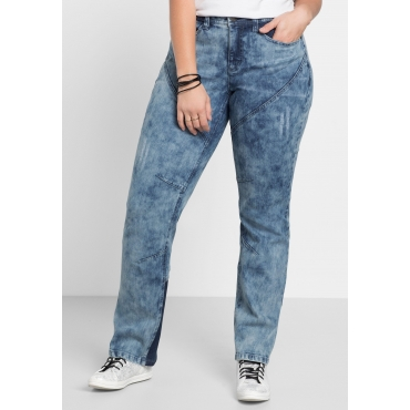 Stretch-Jeans in Moon-Washed-Optik, blue Denim, Gr.40-58