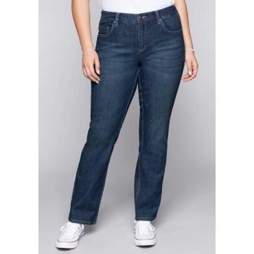 Stretch-Jeans LANA mit zweifarbigen Nähten, blue Denim, Gr.44-58