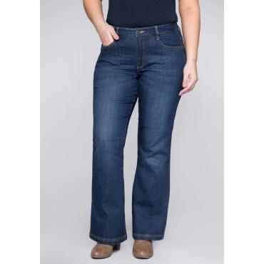 Stretch-Jeans mit ausgestellter Saumweite, blue Denim, Gr.22-104