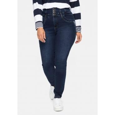 Super Skinny Jeans ANNE mit High-Waist-Bund, dark blue Denim, Gr.40-58