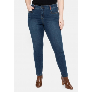 Super Skinny Jeans in Power-Stretch-Qualität, dark blue Denim, Gr.40-58
