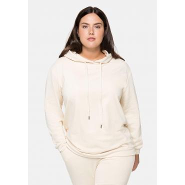 Sweatshirt mit Kapuze, beigefarben, Gr.40/42-56/58