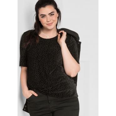 T-Shirt in Ausbrenner-Qualität, schwarz, Gr.44/46-56/58
