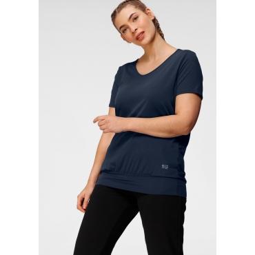 T-Shirt, marine+marine gestreift, Gr.40/42-56/58