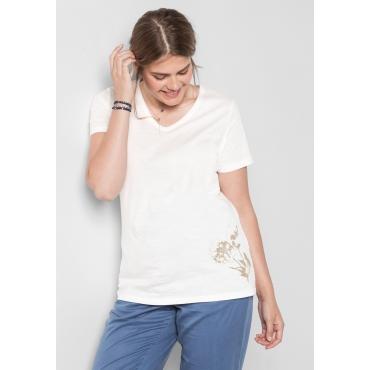T-Shirt mit Druck, offwhite, Gr.40/42-56/58