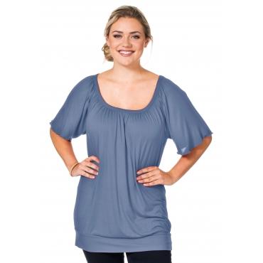T-Shirt mit Raglan-Flügelärmeln, eisblau, Gr.40/42-56/58